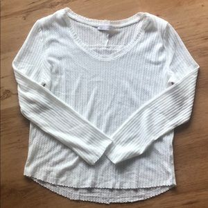 Francesca's Collections Tops - NWOT  Ivory Thermal Long Sleeve Top